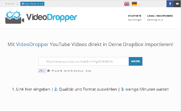 VideoDropper Website